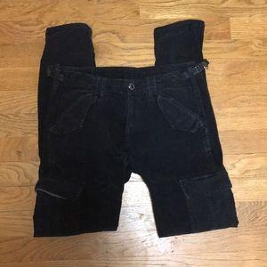 Theory Adriano Goldschmied gray cargo pants sz 25